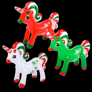 Christmas Unicorn Inflate- Assorted