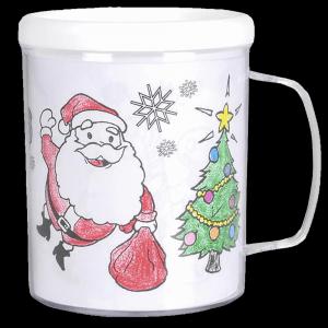 """3.75"""" Christmas Coloring Mug"""