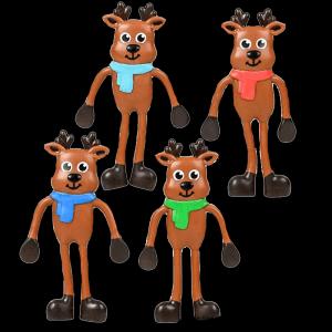 """4.5"""" Bendable Reindeer- Assorted"""