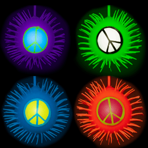 LED Peace Sign Puffer YoYo Balls