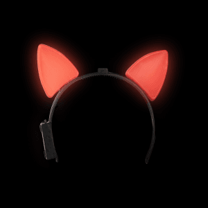 Light-Up Cat Ears - Red