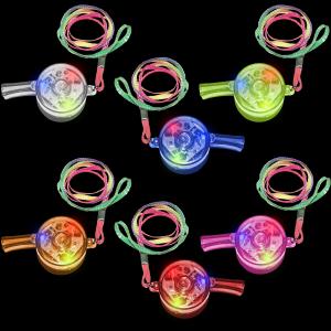 LED Light Up Drum Whistles
