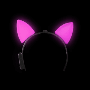 Light-Up Cat Ears - Pink