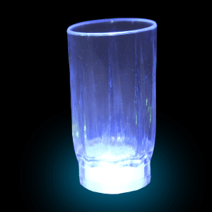 LED Flashing Shot Glass - 2 oz