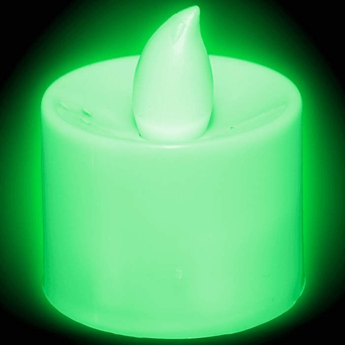 Light Up Tea Light Candles LED- Green