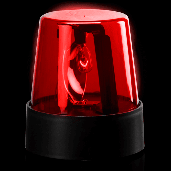 7 Inch Police Beacon Light in Red