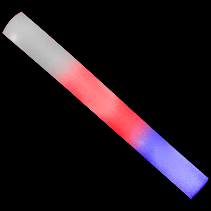 LED Light-Up Red-White-Blue Foam Baton