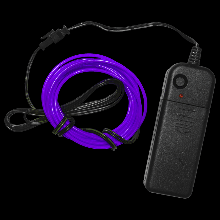 6.5 Foot Light-Up EL Wire - Purple