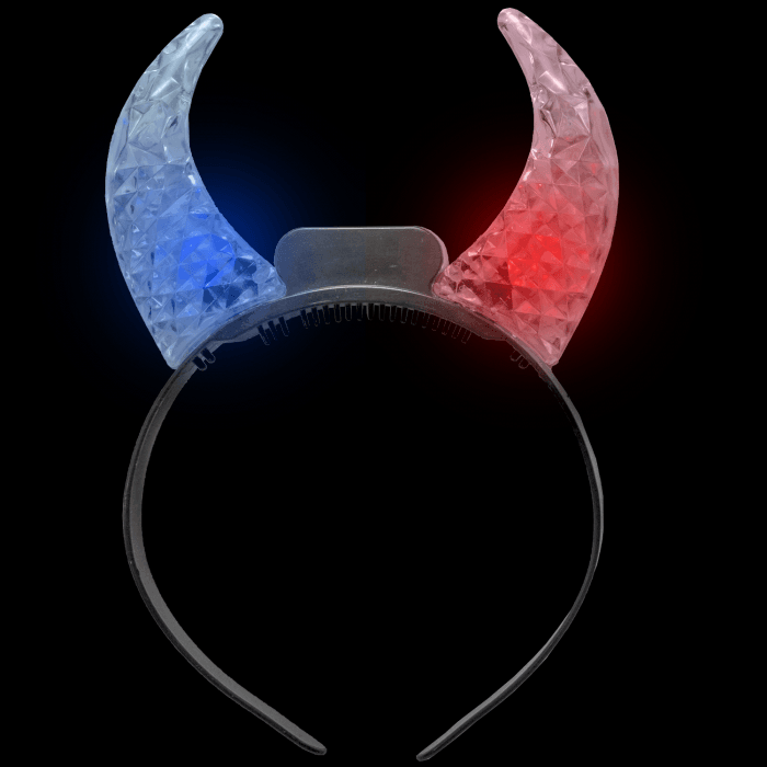 LED Light Up Clear Crystal Devil Horns - Multicolor