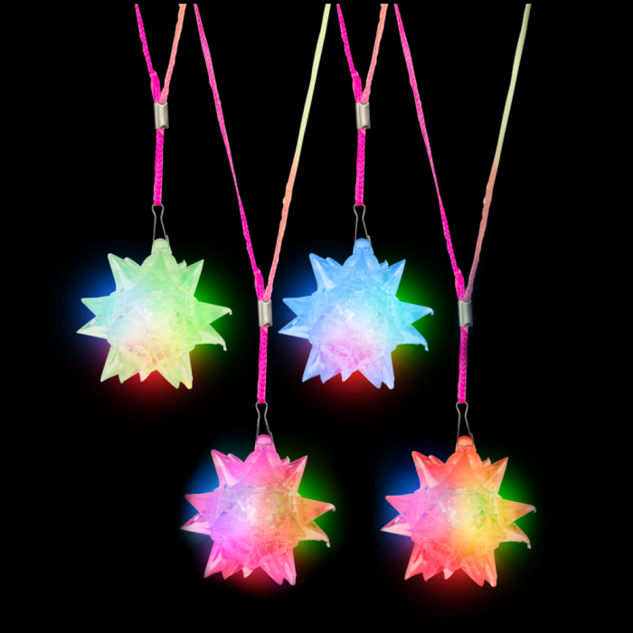 "3"" Light-Up Crystal Star Necklace"