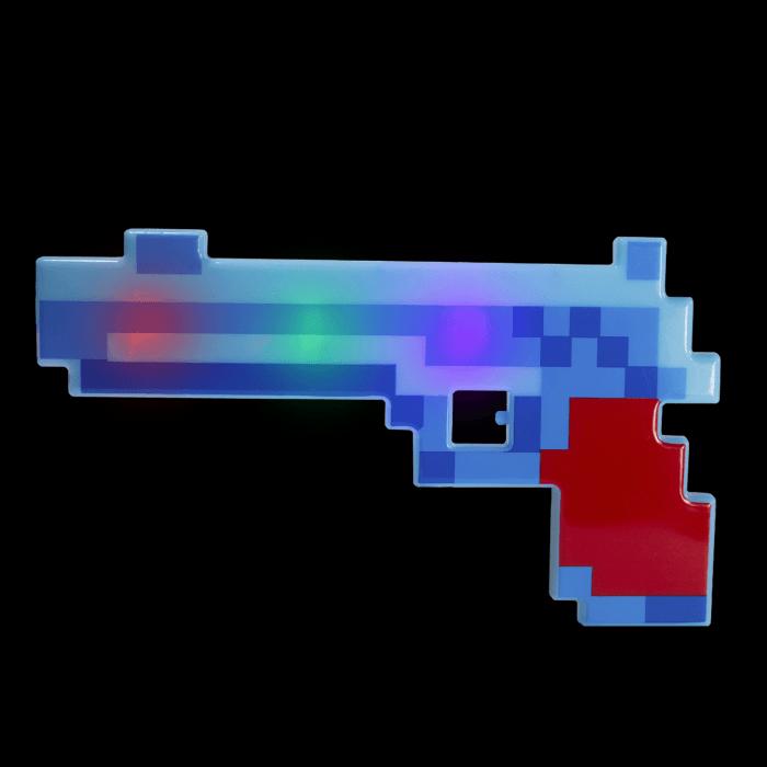 "10"" LED Light-Up Pixel Pistol"