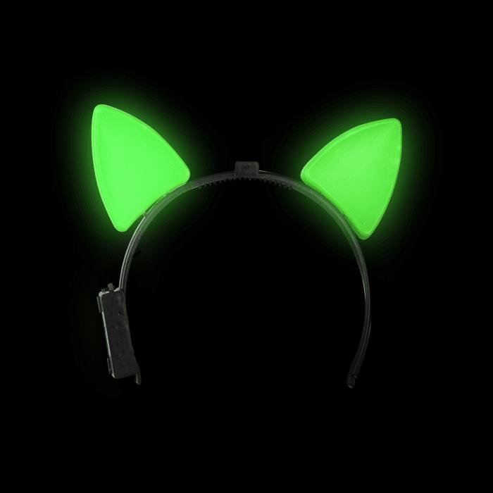 Light-Up Cat Ears - Green