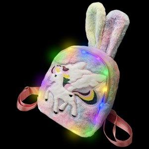 Plush Luminous LED Cute Backpack-Pegasus