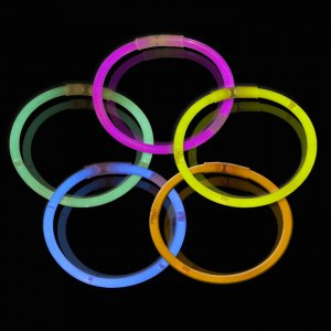 10 Inch Glow Stick Bracelets - 5 Color Mix