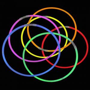20 Inch Glow Stick Necklaces - 8 Color Mix