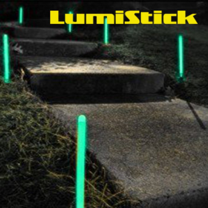 12 Inch Glowing Ground Stakes - Aqua