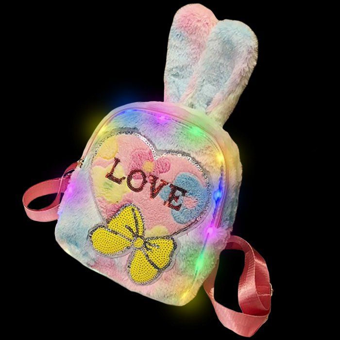 Plush Luminous LED Cute Backpack-Love