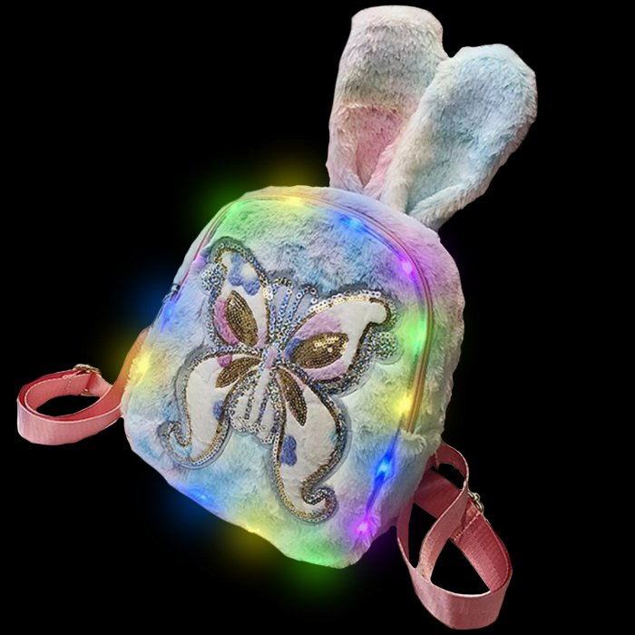 Plush Luminous LED Cute Backpack-Love-Butterfly