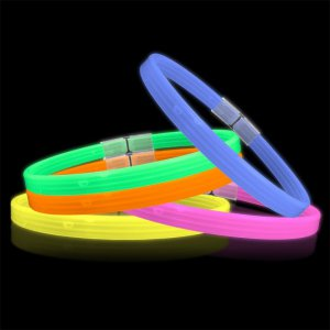 22'' Triple Wide Glowstick Necklaces - Solid Color Mix