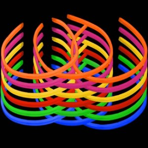 22'' Twister Glowstick Necklaces - Solid Color Mix