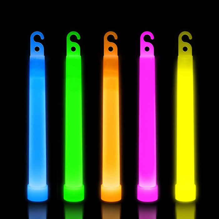 6'' Premium Glow Sticks - 5 Color Mix