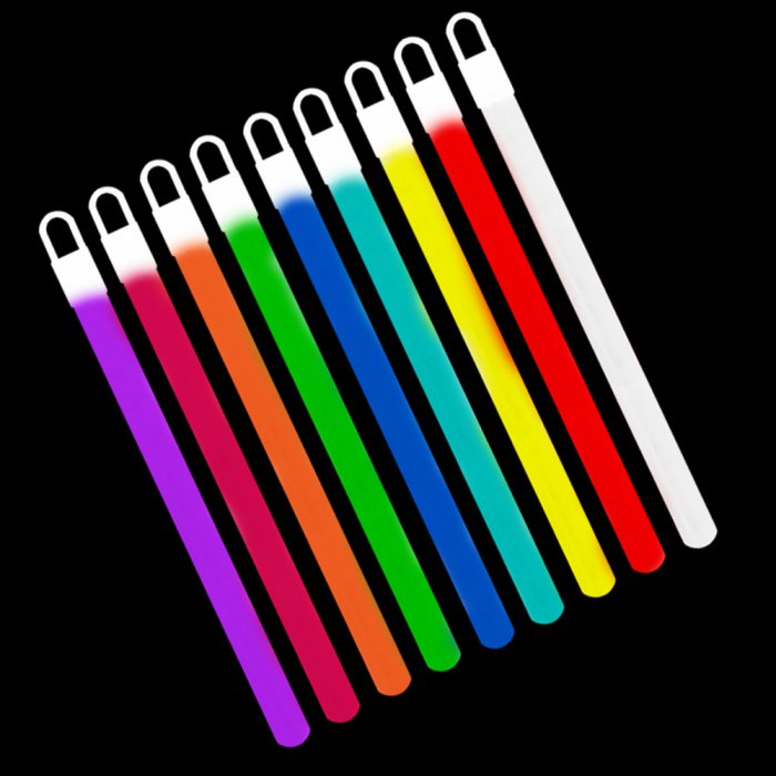 6 Inch Glowsticks - 5 Color Mix