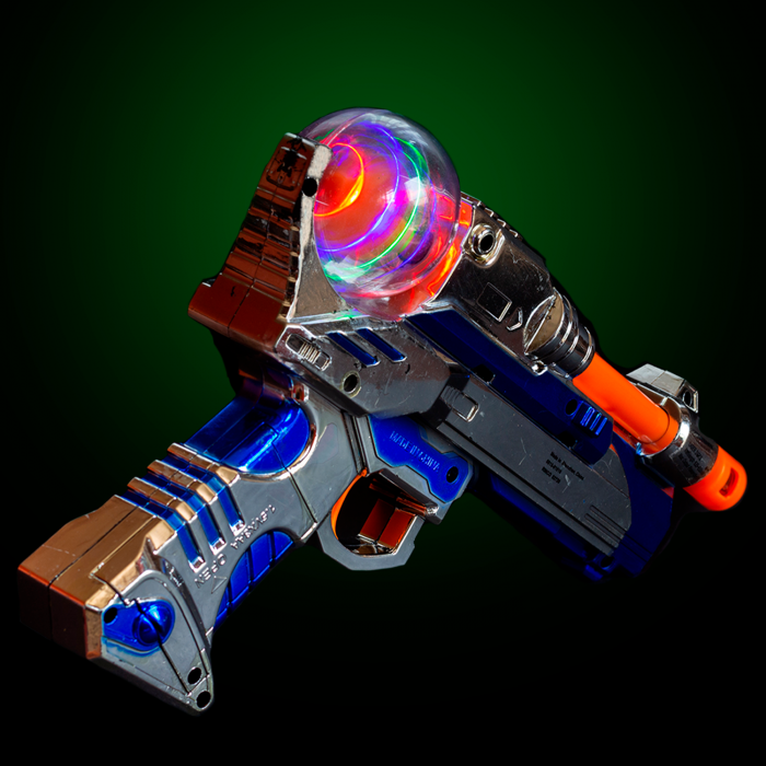 LED Light-up Spinning Pistol