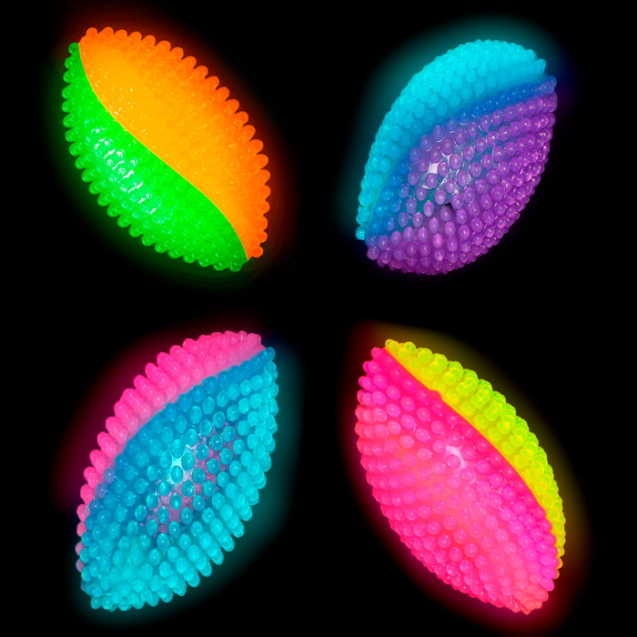 Light-Up Spikey Footballs