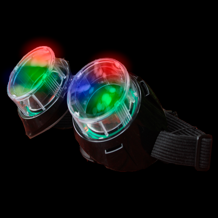 LED Light-Up Flashing Goggles