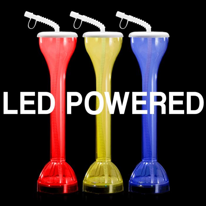 "17oz Flashing Light-Up Yard Glass (14"" tall)"