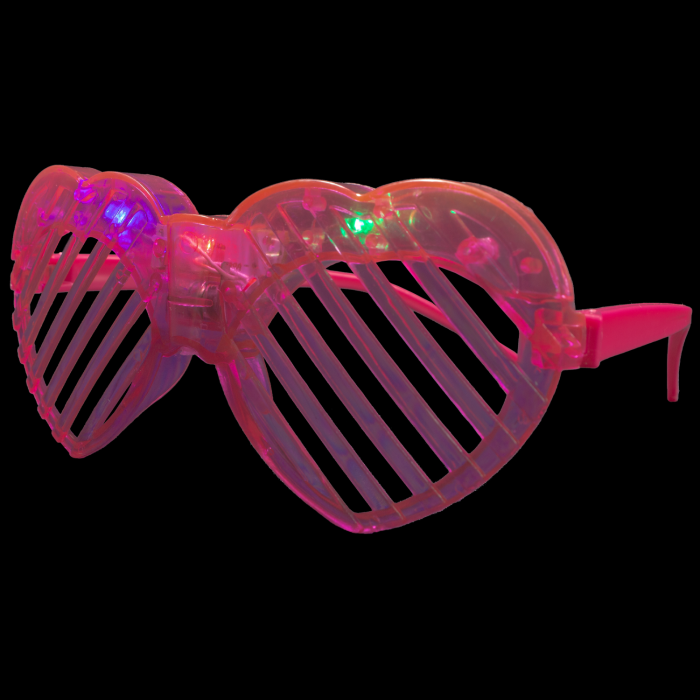 LED Light Up Heart Slotted Shades