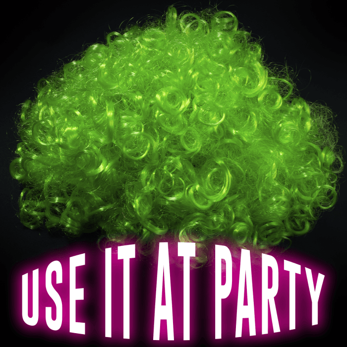 LED Light Up Afro Wig - Green