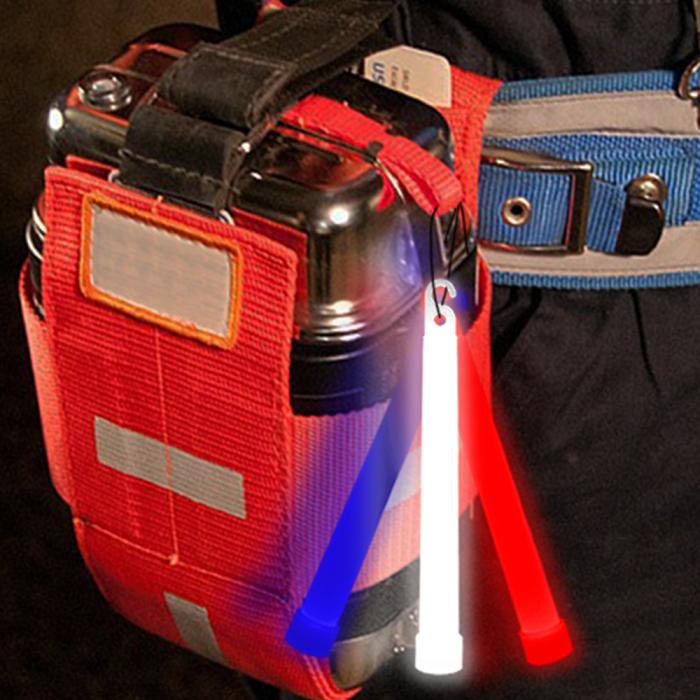 "6"" Emergency Sticks -Red, White & Blue (36 pack)"