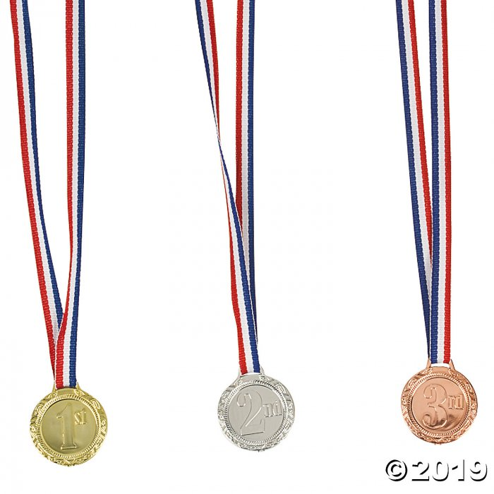 1st, 2nd & 3rd Place Award Medals (Per Dozen)