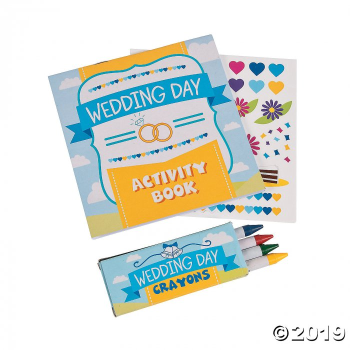 Wedding Day Activity Books with Stickers & Crayons (12 Set(s))