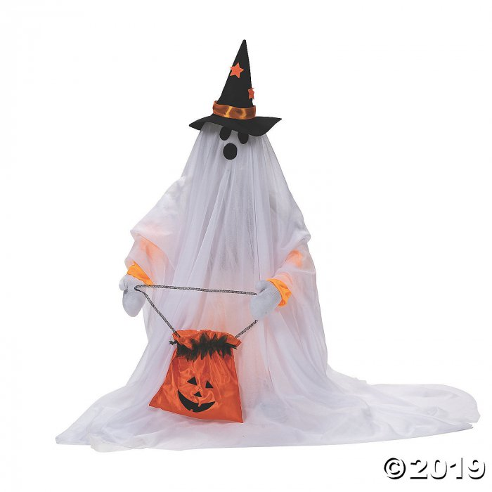 Cute Standing Animated Ghost Halloween Decoration (1 Piece(s))