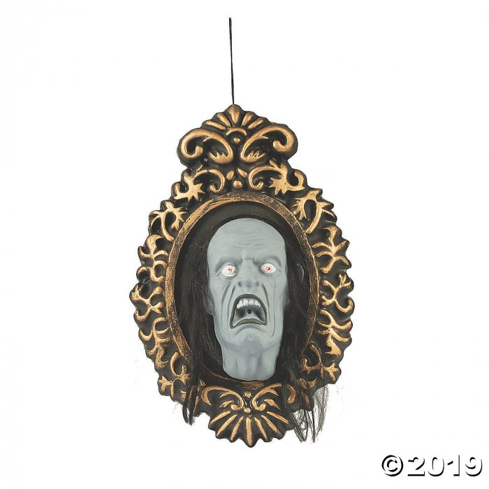 Hanging Mirror with Jumping Face Halloween Decoration (1 Piece(s))