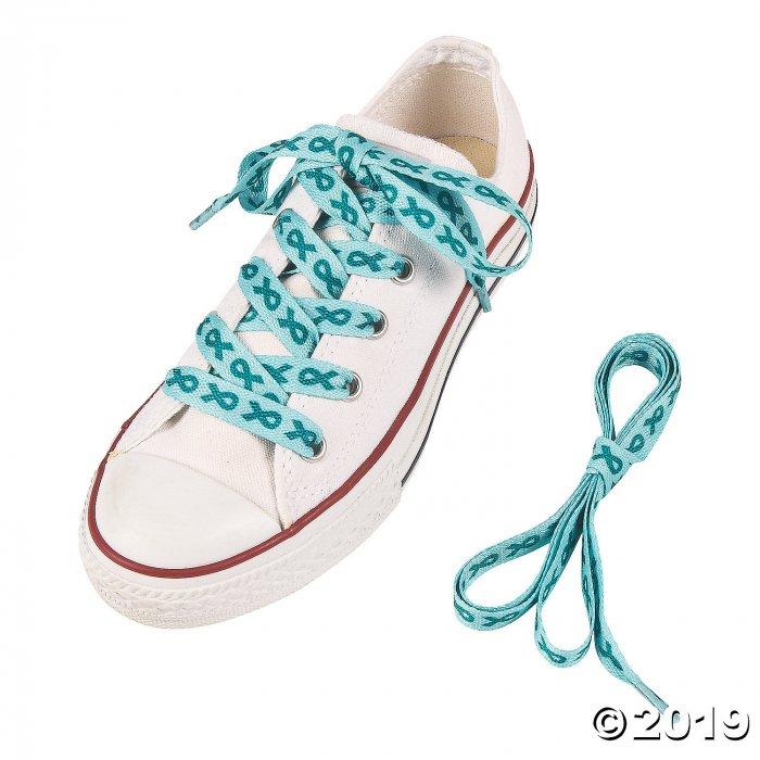 Teal Awareness Ribbon Shoelaces (6 Pair)