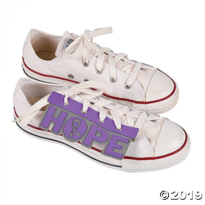 Purple Awareness Ribbon Shoe Accessories (1 Pair)