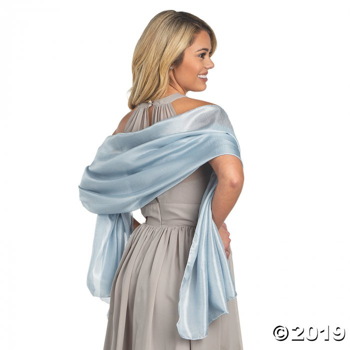 Dusty Blue Bridesmaid Shawl Wraps (3 Piece(s))