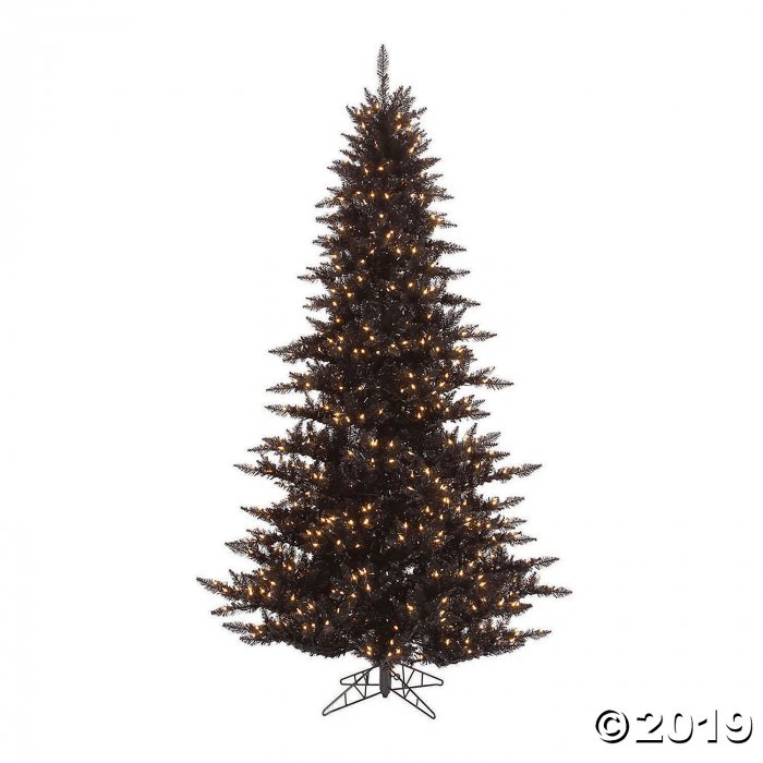 Vickerman 6 5 Black Fir Christmas Tree With Warm White Led Lights 1 Piece S