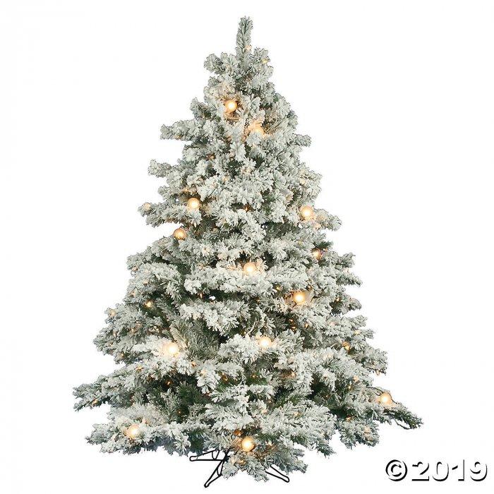 Flocked Alaskan Pine Christmas Tree