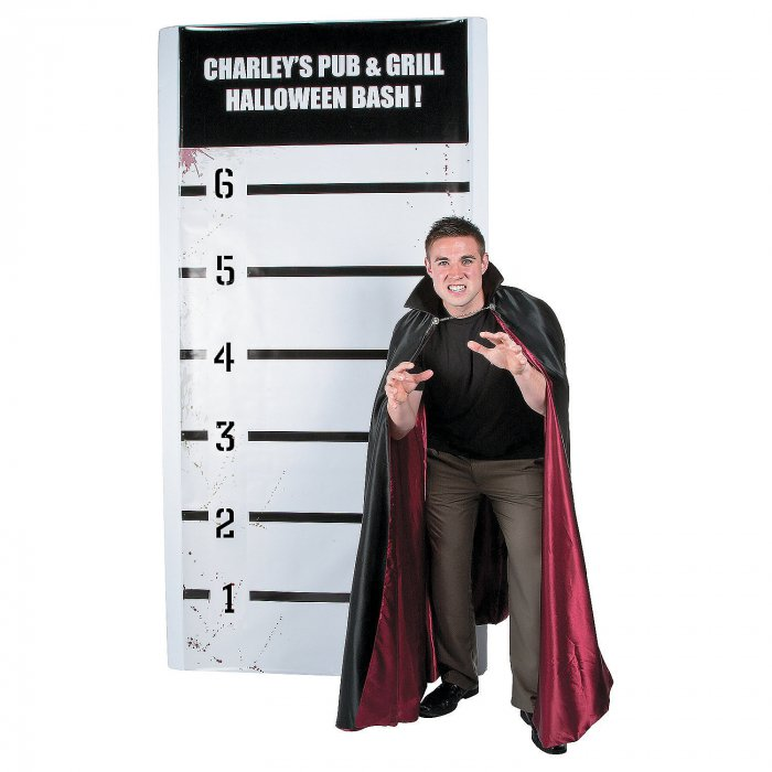 Personalized Halloween Mugshot Photo Booth Backdrop (1 Piece(s))