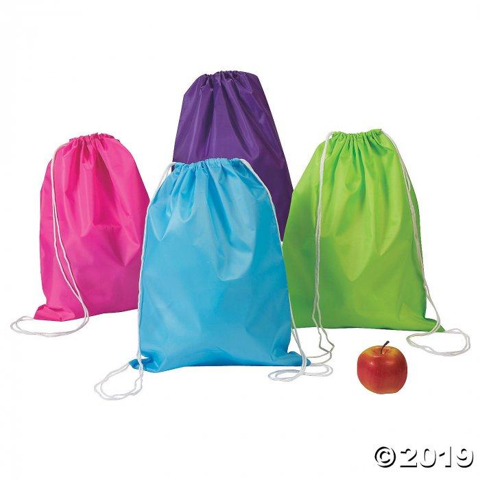 Large Bright Color Drawstring Bags (Per Dozen)