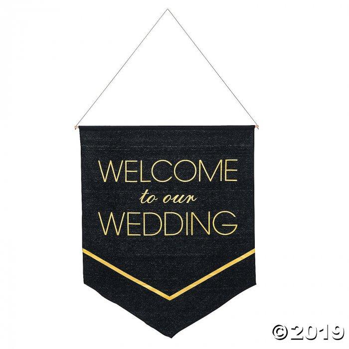 Black & Gold Wedding Banner (1 Piece(s))
