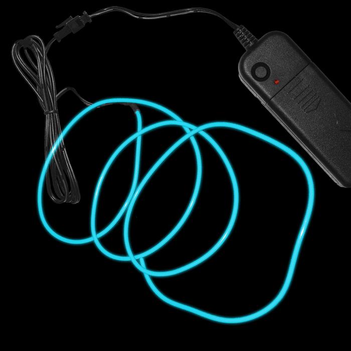 3 Foot Light-Up EL Wire - Aqua