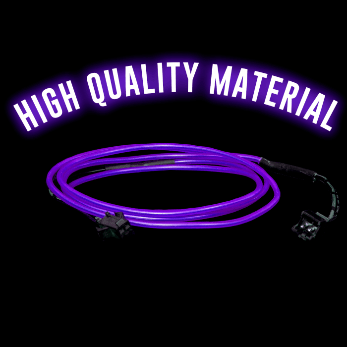 3 Foot Light-Up EL Wire - Purple