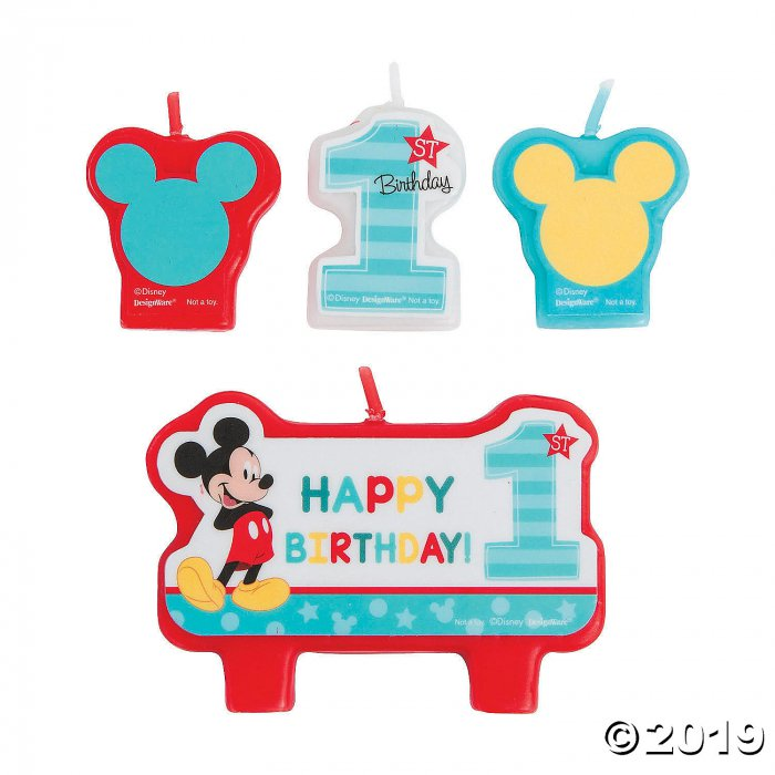 Disney® Mickey's Fun To Be One Candle Set (1 Set(s))