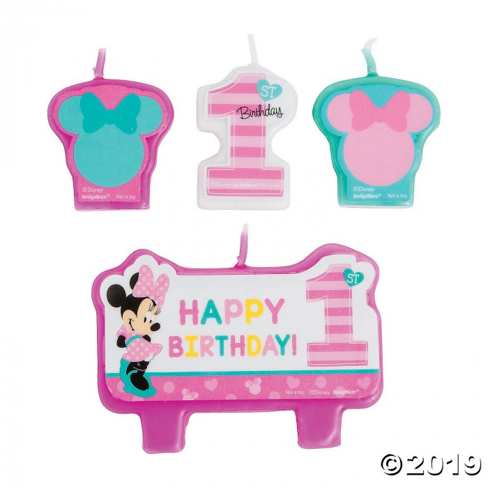 Disney® Minnie's Fun To Be One Candle Set (1 Set(s))