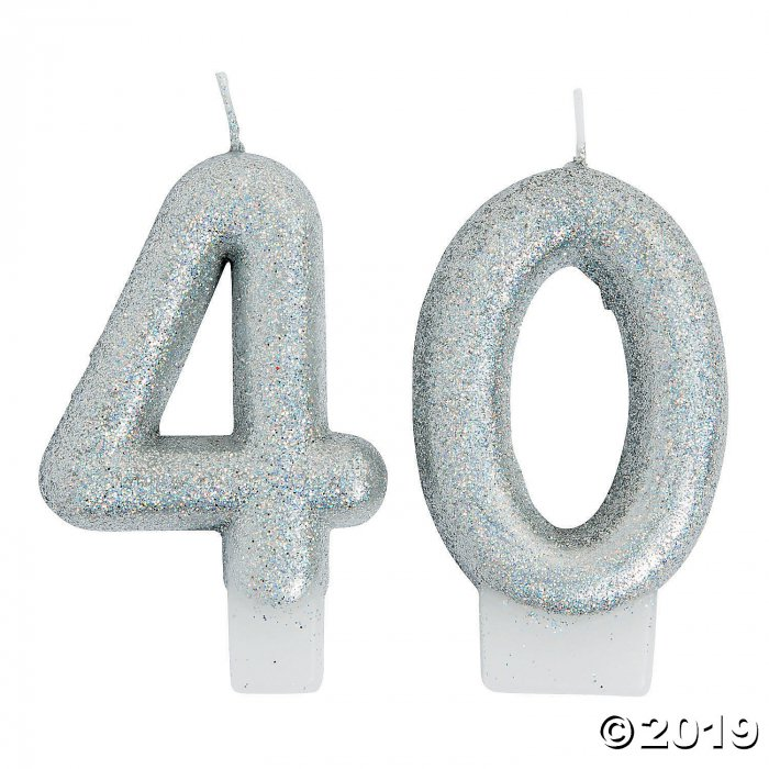 40th Birthday Sparking Celebration Candle (1 Set(s))